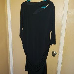 Lane Bryant size 22 black bodycon dress
